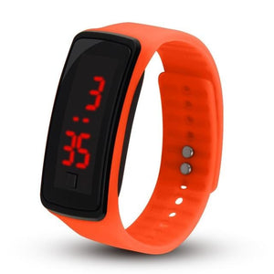Electronic Sports Watch For Men And Women Orange