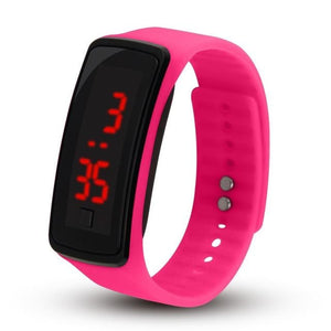 Electronic Sports Watch For Men And Women Pink