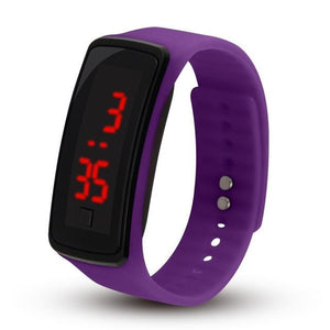 Electronic Sports Watch For Men And Women Purple
