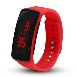 Electronic Sports Watch For Men And Women Red