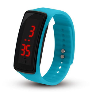 Electronic Sports Watch For Men And Women Sky Blue