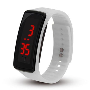Electronic Sports Watch For Men And Women White