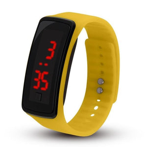 Electronic Sports Watch For Men And Women Yellow