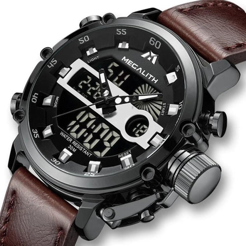 Fashion Dual-Clock With Built-In Chronograph