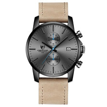 Load image into Gallery viewer, Fashion Rugged Leather Chronograph For Men Gray