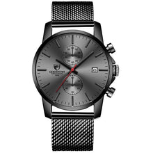 Load image into Gallery viewer, Fashion Rugged Leather Chronograph For Men Stainless Red