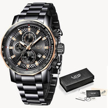 Load image into Gallery viewer, Fashion Stainless Steel Chronograph With Back-Light Black Rose Gold