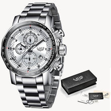 Load image into Gallery viewer, Fashion Stainless Steel Chronograph With Back-Light Silver White