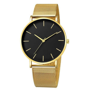 Mens And Womens Watch Casual Slim Stainless Steel C