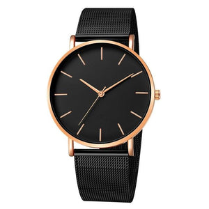Mens And Womens Watch Casual Slim Stainless Steel G