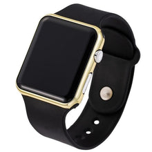 Load image into Gallery viewer, Mens And Womens Watch Sport Electronic Black Gold