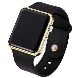 Mens And Womens Watch Sport Electronic Black Gold