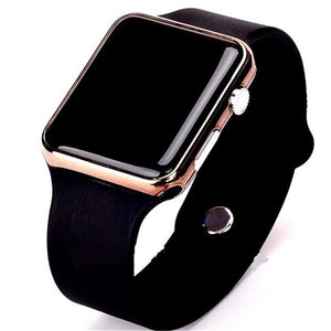 Mens And Womens Watch Sport Electronic Black Rose Gold