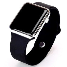 Load image into Gallery viewer, Mens And Womens Watch Sport Electronic Black Silver