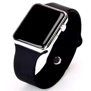 Mens And Womens Watch Sport Electronic Black Silver