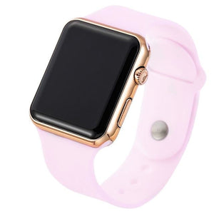 Mens And Womens Watch Sport Electronic Pink Rose Gold