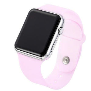 Mens And Womens Watch Sport Electronic Pink Silver