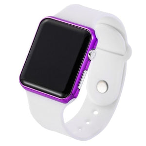 Mens And Womens Watch Sport Electronic White Purple