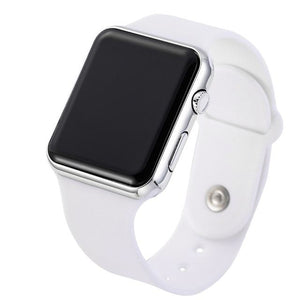 Mens And Womens Watch Sport Electronic White Silver