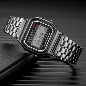 Mens And Womens Watch Vintage Stainless Steel Black