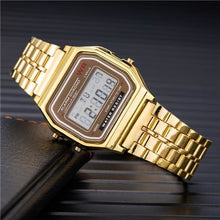 Load image into Gallery viewer, Mens And Womens Watch Vintage Stainless Steel Gold