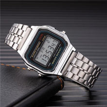 Load image into Gallery viewer, Mens And Womens Watch Vintage Stainless Steel Silver