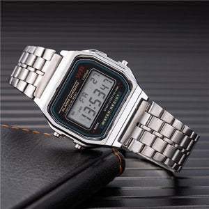 Mens And Womens Watch Vintage Stainless Steel Silver