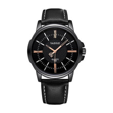 Load image into Gallery viewer, Mens Quartz Businessman Slim Leather Watch Black