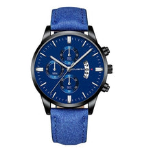 Load image into Gallery viewer, Mens Watch Chic Leather With Calendar Window B