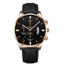 Load image into Gallery viewer, Mens Watch Chic Leather With Calendar Window J