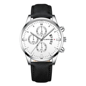 Mens Watch Chic Leather With Calendar Window K