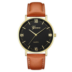 Mens Watch Luxury Casual Leather Build D