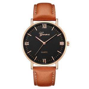 Mens Watch Luxury Casual Leather Build H