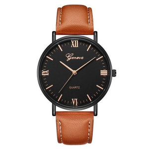 Mens Watch Luxury Casual Leather Build J