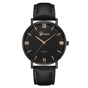 Mens Watch Luxury Casual Leather Build K