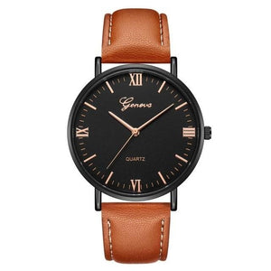 Mens Watch Luxury Casual Leather Build L