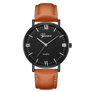Mens Watch Luxury Casual Leather Build N