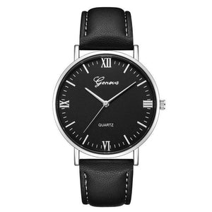 Mens Watch Luxury Casual Leather Build Q