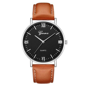 Mens Watch Luxury Casual Leather Build R