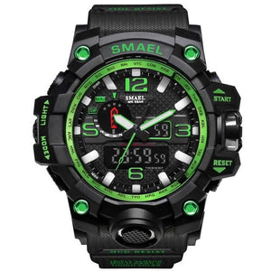 Mens Watch Military Waterproof Chronograph Sport Black Green