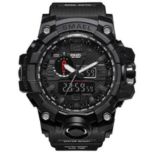 Load image into Gallery viewer, Mens Watch Military Waterproof Chronograph Sport Black