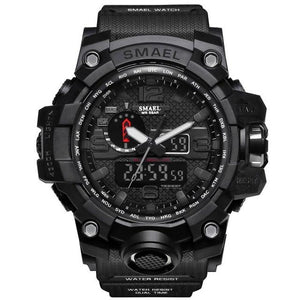 Mens Watch Military Waterproof Chronograph Sport Black