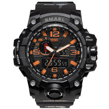 Load image into Gallery viewer, Mens Watch Military Waterproof Chronograph Sport Camo Orange