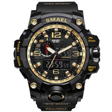 Load image into Gallery viewer, Mens Watch Military Waterproof Chronograph Sport Gold