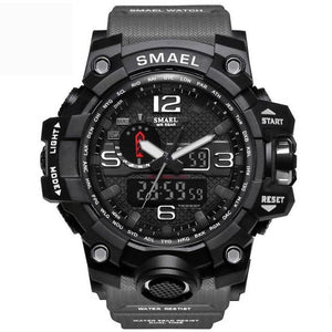 Mens Watch Military Waterproof Chronograph Sport Gray