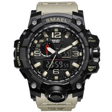 Load image into Gallery viewer, Mens Watch Military Waterproof Chronograph Sport Kahki