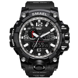 Mens Watch Military Waterproof Chronograph Sport Sliver