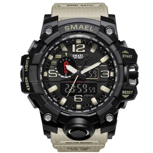 Mens Watch Military Waterproof Chronograph Sport