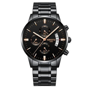 Mens Watch Stainless Steel Sport Or Leather Chronograph And Calendar C
