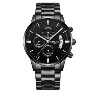 Mens Watch Stainless Steel Sport Or Leather Chronograph And Calendar D